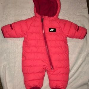 Nike bright pink snow suit jacket